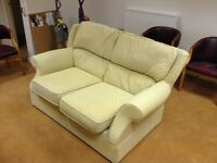 2 seater M&S settee in cloth
