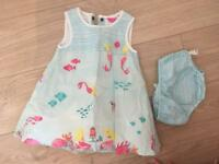Joules baby dress age 6-9 months