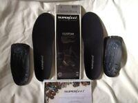 Superfeet Custom Black size E up to 8.5uk New! More Superfeet