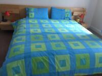 Ikea European king size high quality bed virtually new