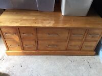 Next Coffee Table/ Storage Chest - solid wood - beech