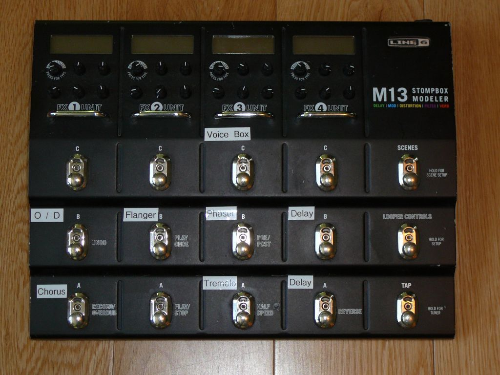 Line 6 M13 Stompbox Modeller - Delay Overdrive Modulation Pitch Shifter Wah  EQ Filters Looper Tuner