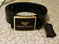 Genuine leather men armani designer belt