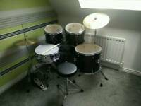 SOLD !!! Drum kit with stool and sticks. Millennium MX222WR Standard Drum kit