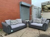 Grey fabric sofas 3&2 delivery 🚚 sofa suite couch furniture