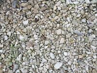 Buff colour garden stones, chippings and pebbles - free, collection only