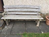 Teak hardwood bench