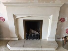 Limestone fireplace and surround - still available in shops