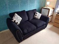 *URGENT* 2 Seater Black Fabric Sofa Bed