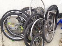 Bikes wheels / tyres all sizes all types