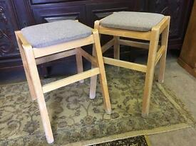 Pair Of Vintage Wooden stacking kitchen stools