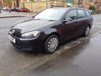 volkswagen golf s 1.6 tdi bluemotion estate black 2011 ex taxi, drives solid and great
