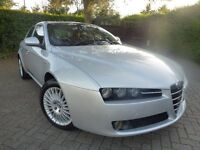 2006 ALFA ROMEO 159 2.2 LUSSO JTS SILVER RED LEATHER STUNNING ALFA