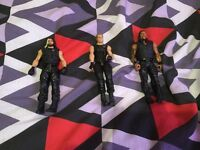 WWE figures ring and belt as good as new