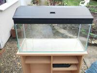 3 foot fish tank / 100l / aquarium with stand