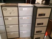 Metal 4 Drawer Filing Cabinets - Well Used - Great for Garage Storage