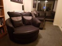 Large Corner Sofa & Swivel Chair in great condition