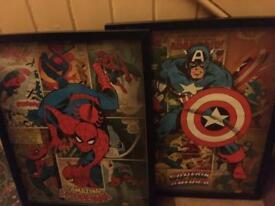 Spider man & captain America pictures