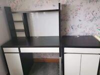 IKEA desk and unit