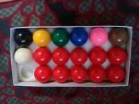 Brand new snooker balls