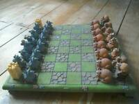 P. Chiarich Chess Set Cats and Mice