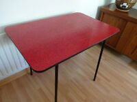 Vintage Retro Mid Century 1950's 'Atomic' Red Fromica Table