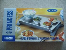 Cordless warming tray, table hot plate. Size XXL large, boxed with instructions