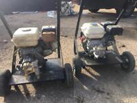 Petrol jetwash x2 spares or repairs