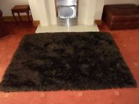 LARGE SHAGGY CHOCOLATE BROWN RUG 6 X4 FT EXCELLENT CONDITION