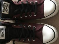 Converse, red high top size 8