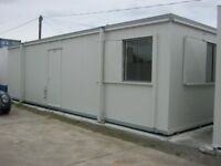 32ft x 10ft Anti Vandal Portable Cabin DOUBLE OFFICE WITH KITCHEN welfare unit shipping container