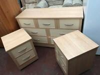Chest of drawers with bedside cabinets can deliver