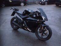 Yamaha R125 stealth black