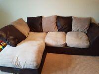Corner piece sofa.