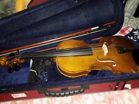 Stentor II Student Violin 4/4 with music stand - spare strings and new rosin