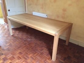 Large Solid Wood Dining Table, Excellent Condition.