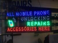Luminous shop sign