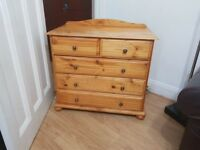 VINTAGE STYLE PINE CHEST OF DRAWERS
