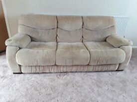 3 seat sofa and 2 chairs