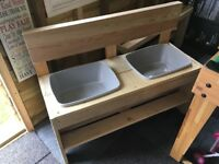 New Handmade treated wood mud kitchen sand water table