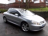 @@LOVELY 2004 PEUGEOT 307 CC CONVERTIBLE/HARD TOP,LOW MILES,MOT MAY 2018,TINTS,ROOF PERFECT,LEATHER