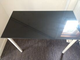 Ikea Black/Glass Desk