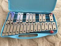 Glockenspiel/ Drum practice pad and beaters