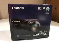 Canon SX610 Digital Camera HD Video black