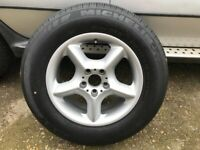GENUINE BMW X5 235 65 17 alloy wheel in very good condition spare wheel 235/65/17 from BMW X5