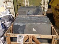 Reclaimed Kota Black Limestone Paving