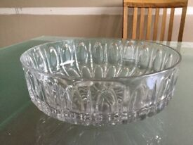 Large cut glass trifle dish as new