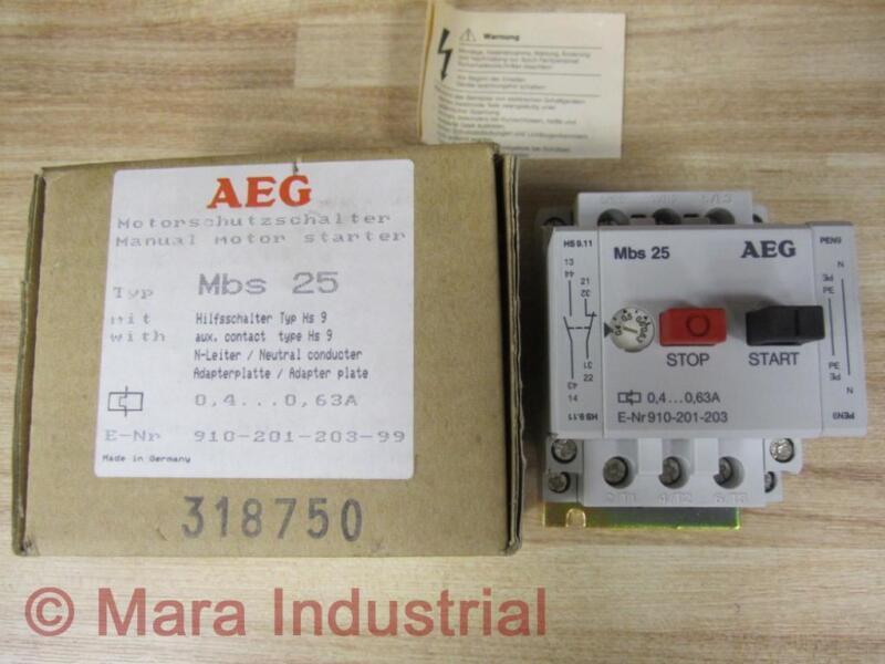 AEG 910-201-203-99 Manual Motor Starter Type Mbs25 910201203