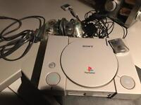 Sony PlayStation 1 original ps one with official controller and 16 games psone