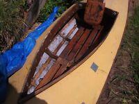 Percy Blandford hand made canoe